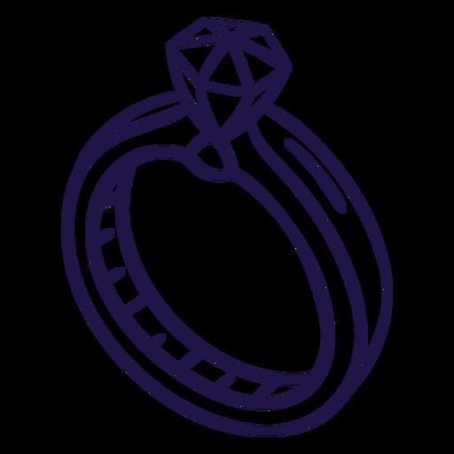 Wedding ring stroke ring Transparent PNG
