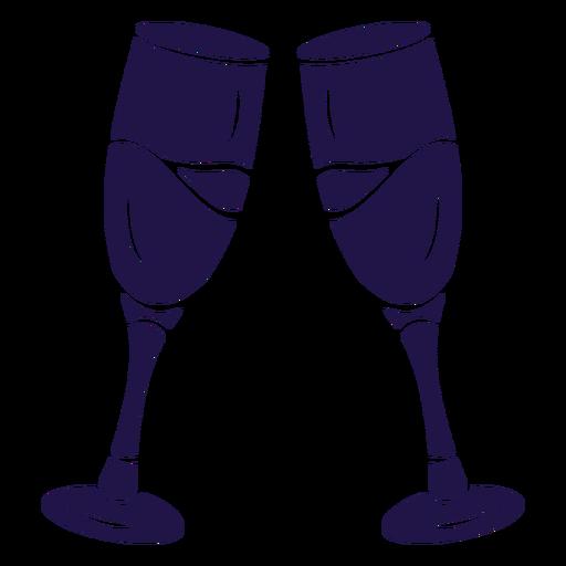 Wedding toast blue Transparent PNG