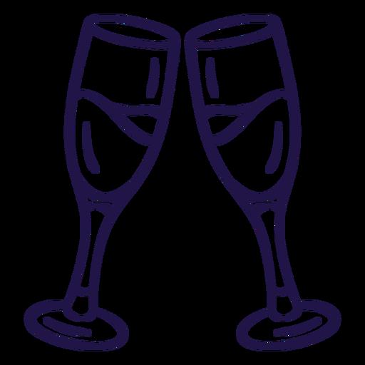 Wedding toast stroke wedding Transparent PNG