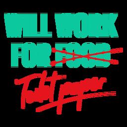 Funcionará para letras de papel higiénico