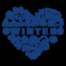 Corazón de temporada de invierno