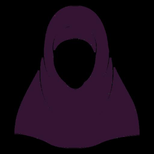 Woman hijab black