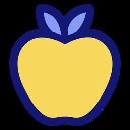 Icono de manzana amarilla