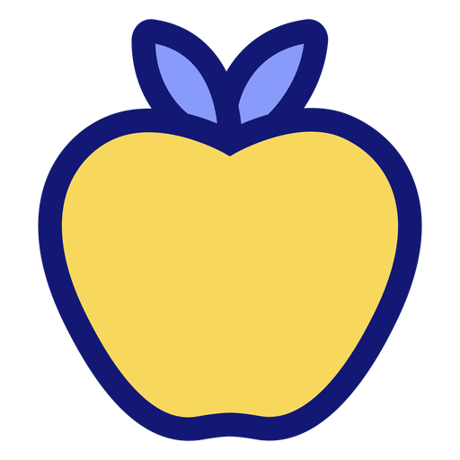 Yellow apple icon Transparent PNG