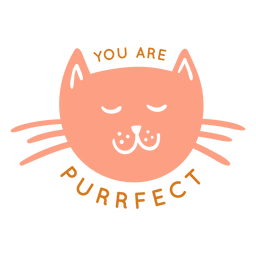 You are purrfect badge