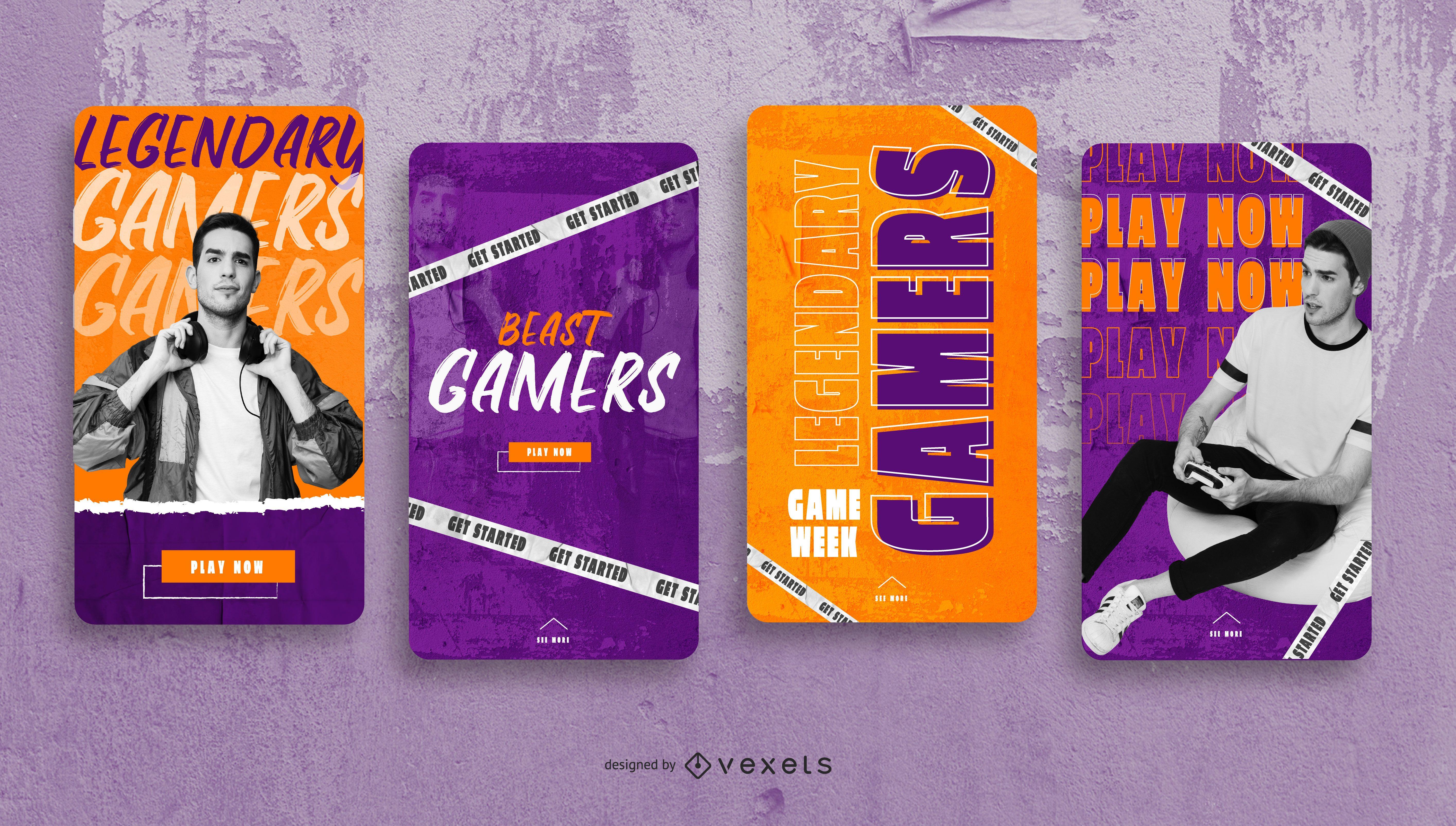 Mejor paquete de diseño de historias sociales para jugadores