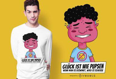 Farting é como a felicidade alemão Design de t-shirt