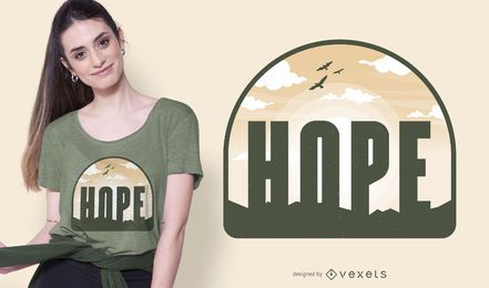 Diseño de camiseta Hope Peaceful