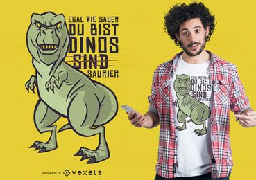 Dinosaurier Deutscher Witz T-Shirt Design