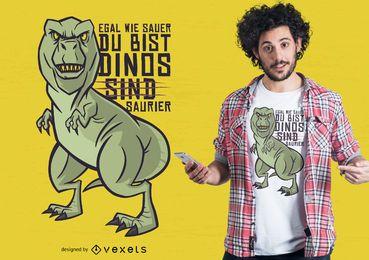 Diseño de camiseta de broma alemana de dinosaurio