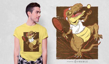 Diseño de camiseta de tenis T-rex