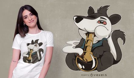 Skunk Bong 420 Design de t-shirt