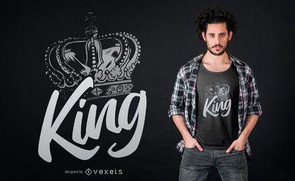 Projeto do t-shirt da coroa do rei