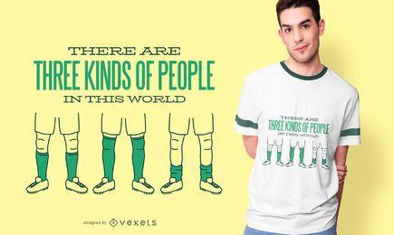 Diseño de camiseta de cita de calcetines de fútbol