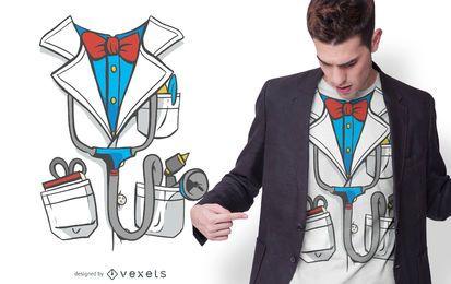 Design de t-shirt de traje de casaco médico