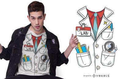 Design de t-shirt de traje de jaleco