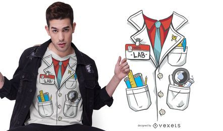 Lab Coat Costume T-shirt Design