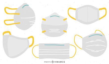 Conjunto plano de máscaras