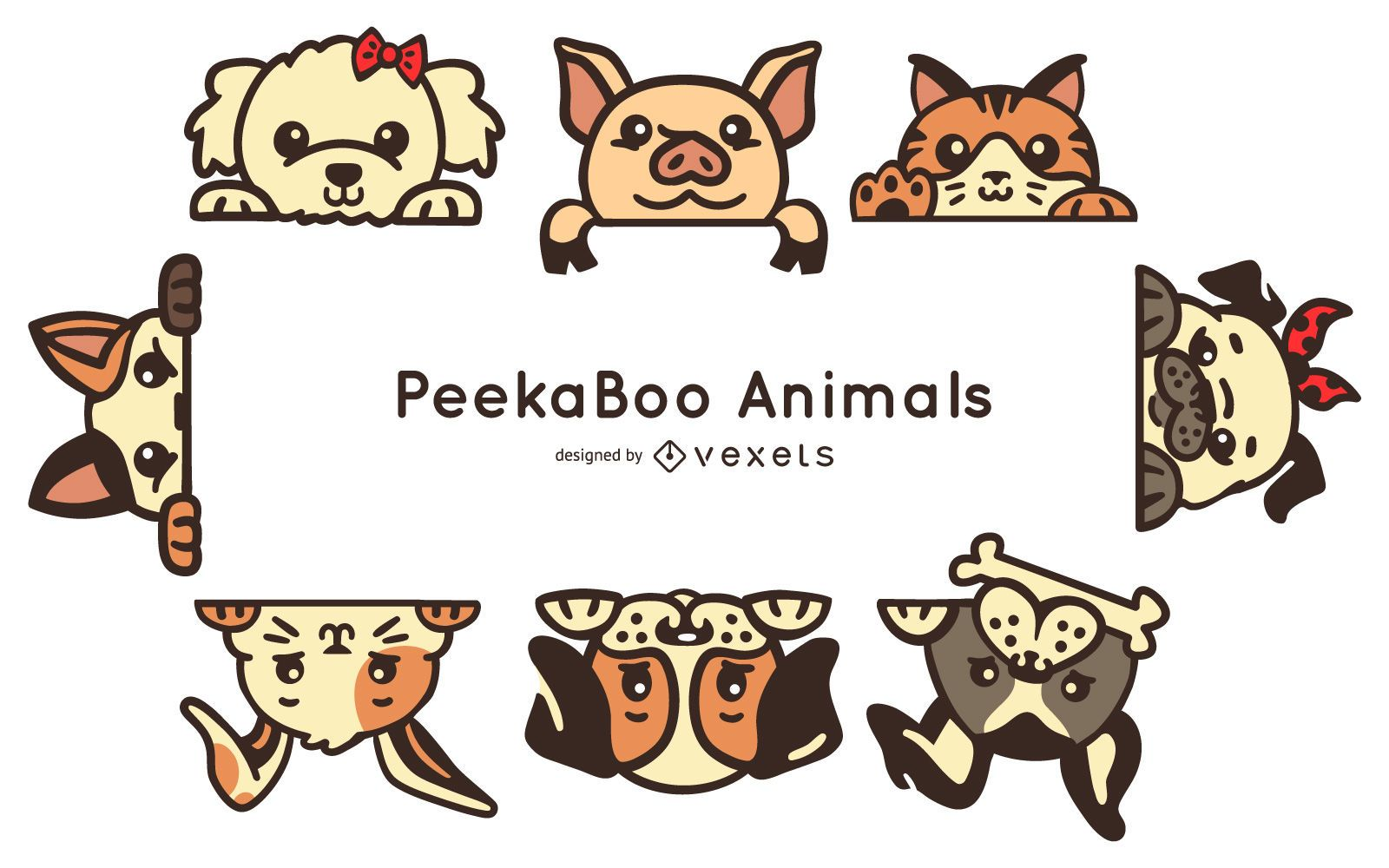 Peekaboo animals set