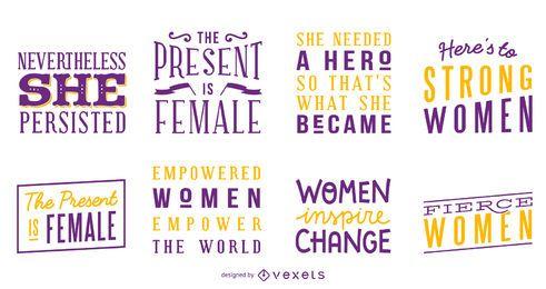 Starke Frauen Schriftzug gesetzt