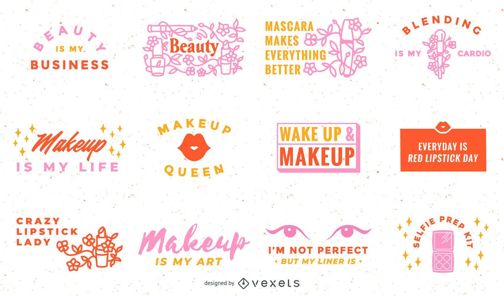 Colección de letras de maquillaje