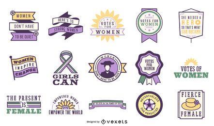 Stimmen für Frauen Abzeichen gesetzt