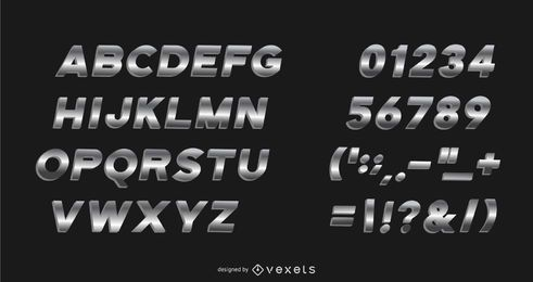 Metal Gradient Alphabet Pack