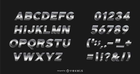 Metall Gradient Alphabet Pack