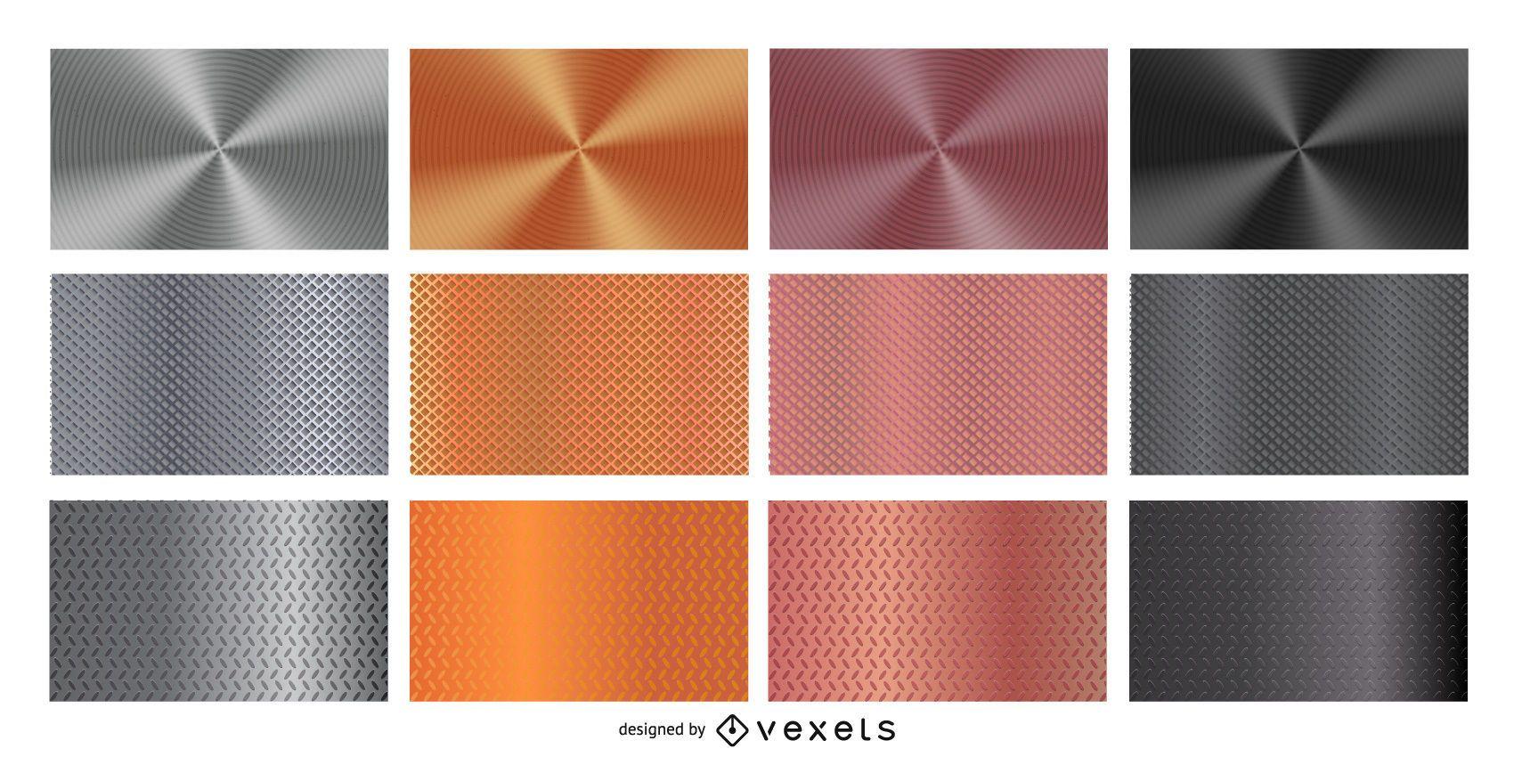 metallic textures set