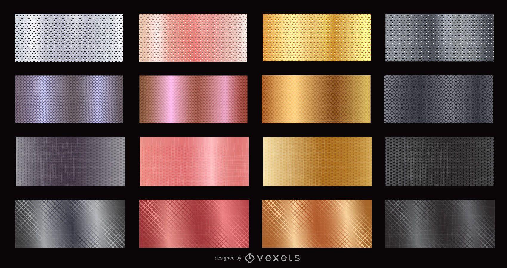 conjunto de texturas metálicas