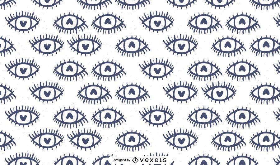 Heart eyes pattern design