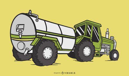 Diseño De Ilustración De Tractor