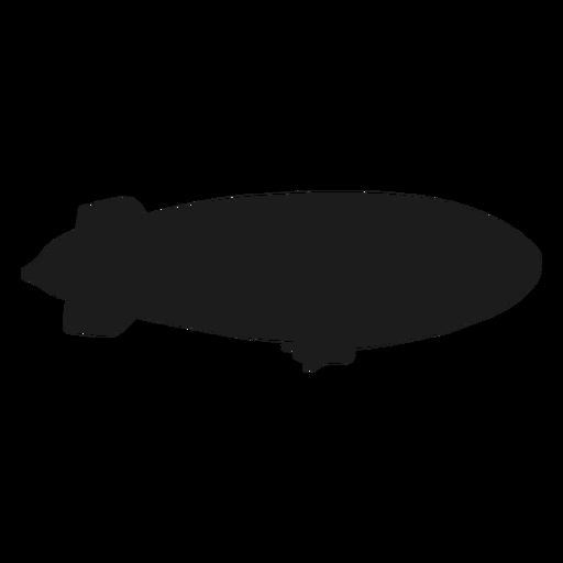 Airship right facing blimp silhouette