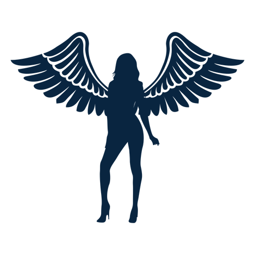 Angel curved winged lady