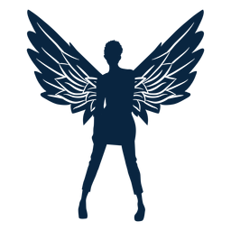Angel winged lady