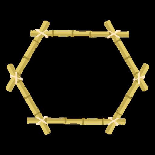 Bamboo frames design hexagon icon Transparent PNG