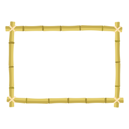 Bamboo frames design rectangle icon