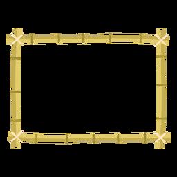 Icono de rectángulo de diseño de marcos de bambú