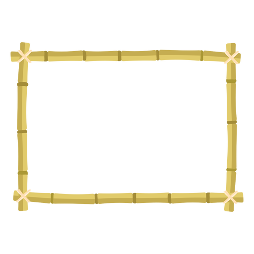 Bamboo frames design rectangle icon Transparent PNG