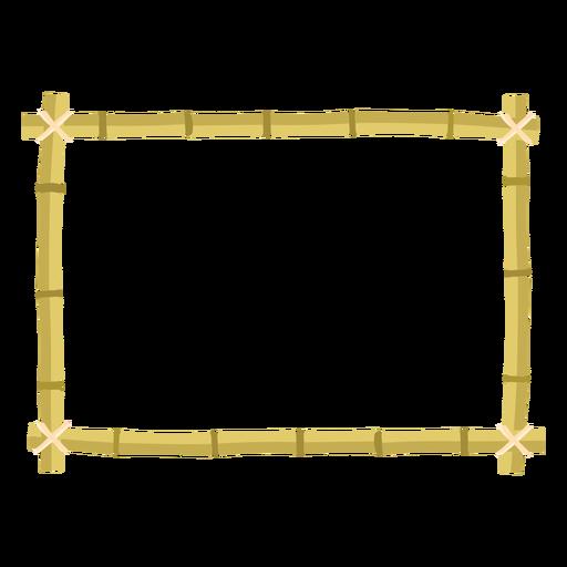 Icono de rectángulo de diseño de marcos de bambú Transparent PNG