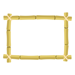 Bamboo frames design rectangle small icon