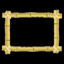 Bambusrahmen entwerfen rechteckige kleine Ikone