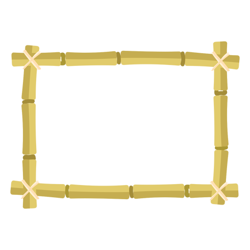 Bamboo frames design rectangle small icon Transparent PNG