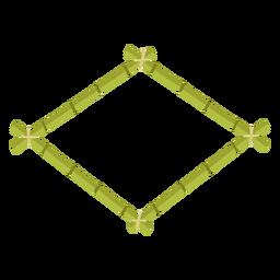 Molduras de bambu desenha ícone losango