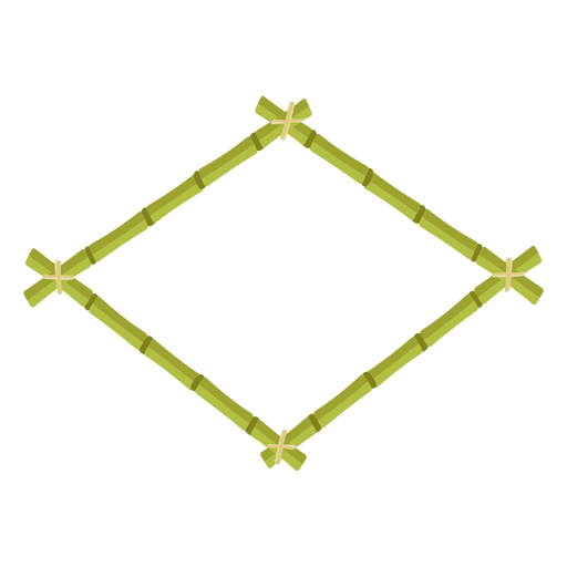 Bamboo frames design rhombus icon Transparent PNG