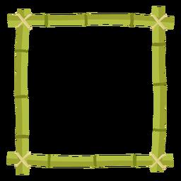 Molduras de bambu desenha ícone quadrado