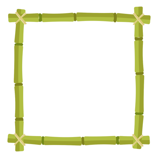 Bamboo frames design square icon Transparent PNG