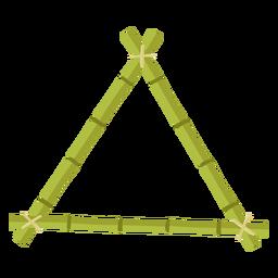Quadros de bambu desenha um ícone de triângulo