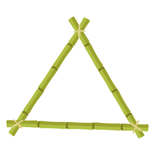 Bamboo frames design triangle icon Transparent PNG