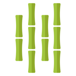 Bambú verde claro cuatro icono centrado cerca